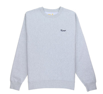 SCRIPT EMBROIDERED HEAVYWEIGHT CREWNECK SWEATER