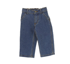 KIDS WASHED DENIM DUNGAREE