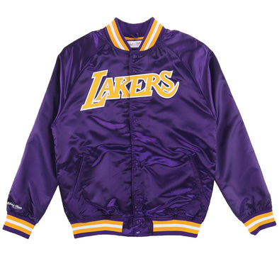 LOS ANGELES LAKERS LIGHTWEIGHT SATIN JACKET