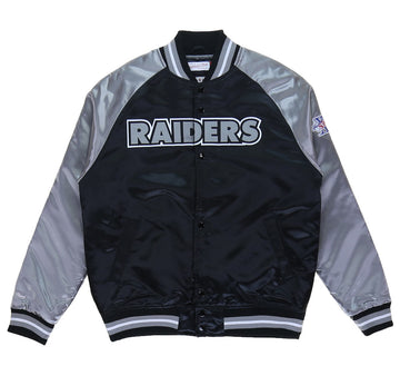 OAKLAND RAIDERS TOUGH SEASON SATIN JACKET