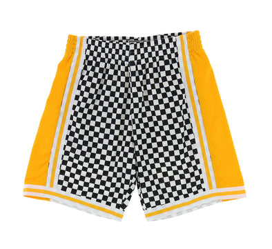 LOS ANGELES LAKERS CHECKERED SWINGMAN SHORT