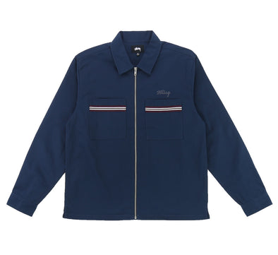 FULL ZIP WORK LONG SLEEVE SHIRT