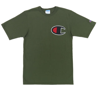 "REVERSE WEAVE ""C"" PATCH HERITAGE TEE"