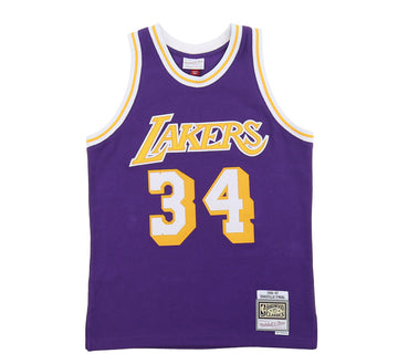 LOS ANGELES LAKERS SHAQUILLE O'NEAL REVERSE FLEECE SWINGMAN JERSEY