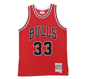 CHICAGO BULLS SCOTTIE PIPPEN REVERSE FLEECE SWINGMAN JERSEY