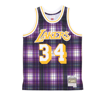 LOS ANGELES LAKERS SHAQUILLE O'NEAL PRIVATE SCHOOL SWINGMAN JERSEY