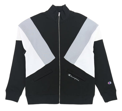 REVERSE WEAVE COLOR BLOCK TRACK JACKET