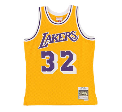 LOS ANGELES LAKERS MAGIC JOHNSON #32 SWINGMAN JERSEY