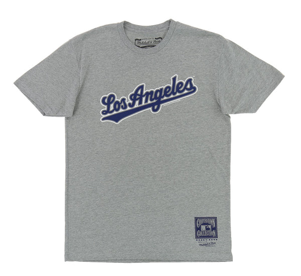 LOS ANGELES DODGERS PLUSHED LOGO TEE