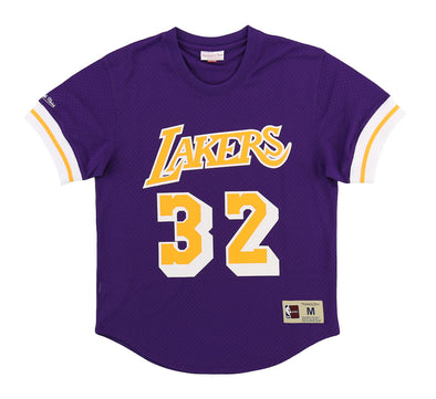 LOS ANGELES LAKERS MESH CREWNECK-MAGIC JOHNSON