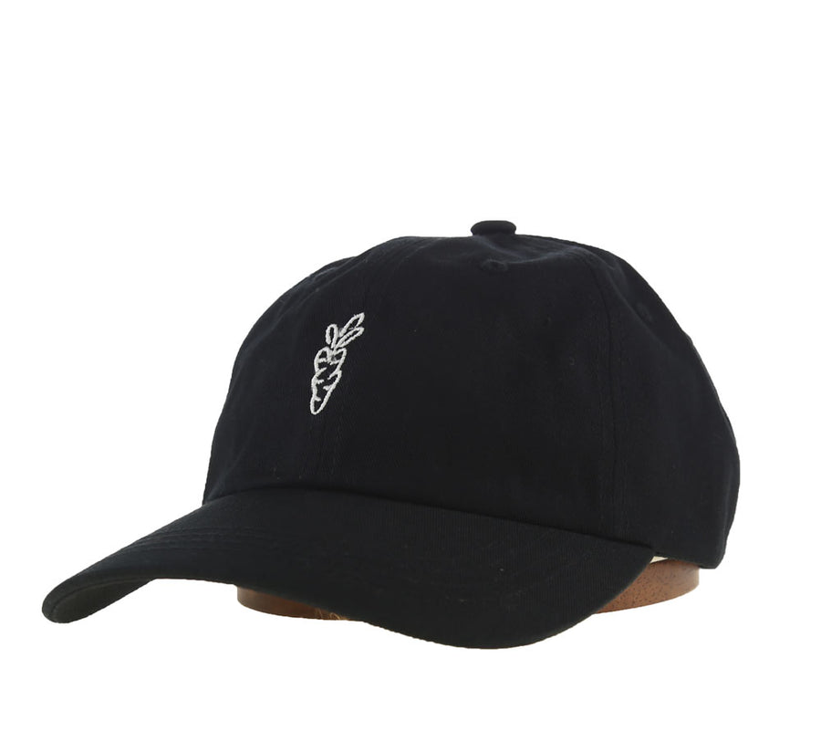 CARROTS SIGNATURE DAD HAT, BLACK