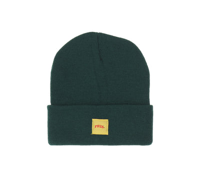 WOVEN ARCH BEANIE, FOREST GREEN