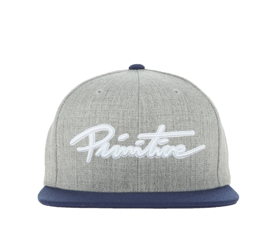NUEVO SCRIPT SNAPBACK, GREY HEATHER