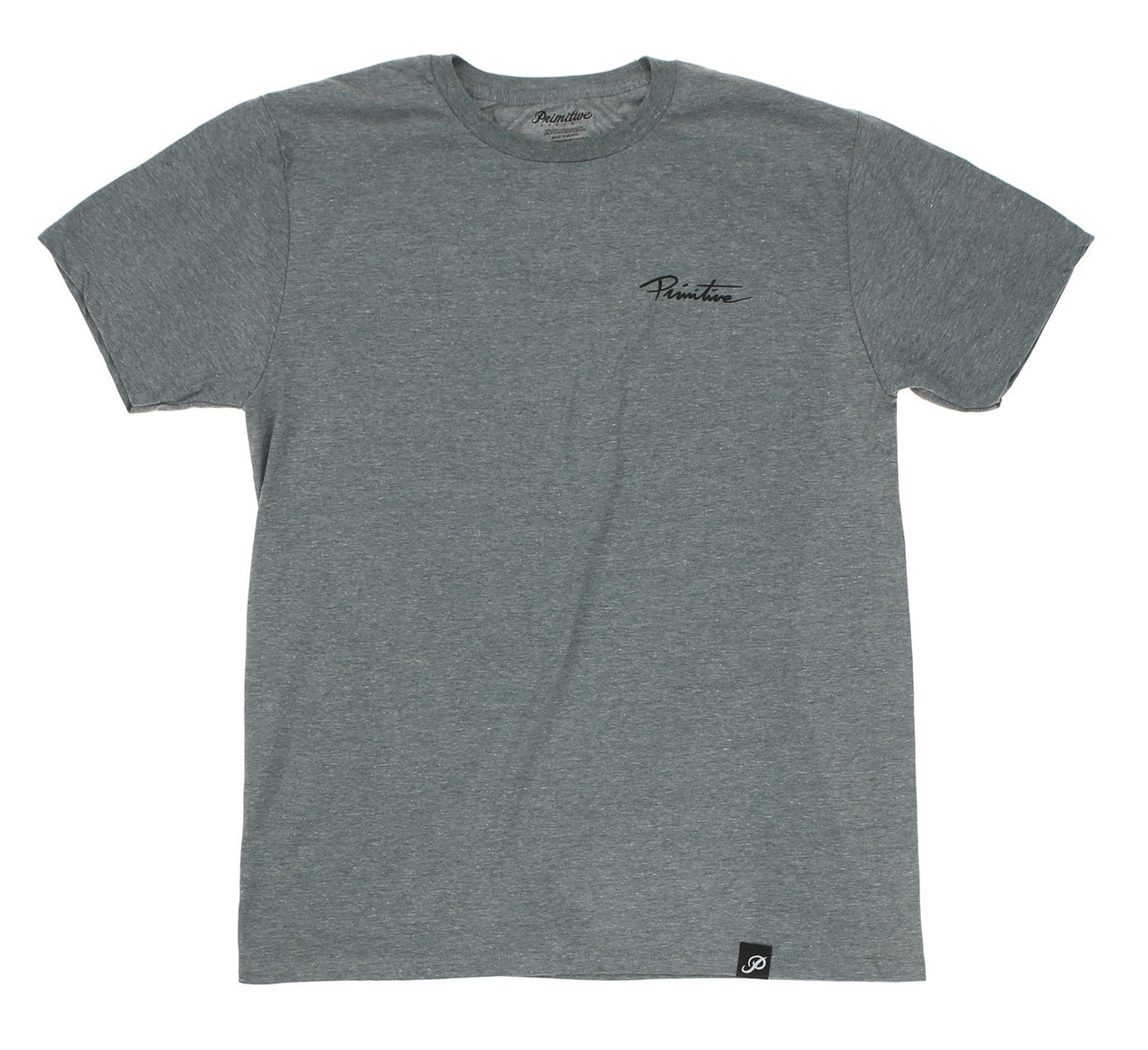 NUEVO SCRIPT LIGHTWEIGHT TEE, ATHLETIC HEATHER
