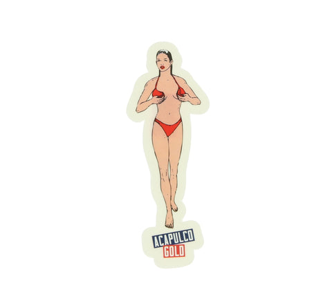 ACAPULCO GOLD BIKINI STICKER