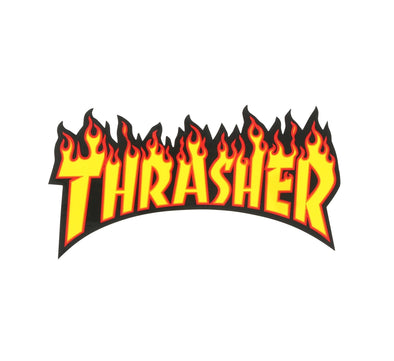 MEDIUM THRASHER FLAME STICKER