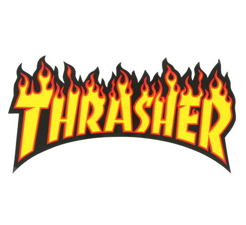 LARGE THRASHER FLAME STICKER