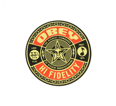 OBEY HIGH FIDELITY STICKER