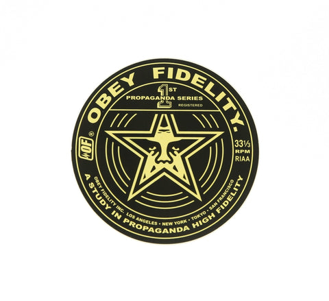 OBEY PROPAGANDA STAR STICKER