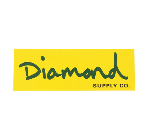 LARGE DIAMOND SCRIPT STICKER
