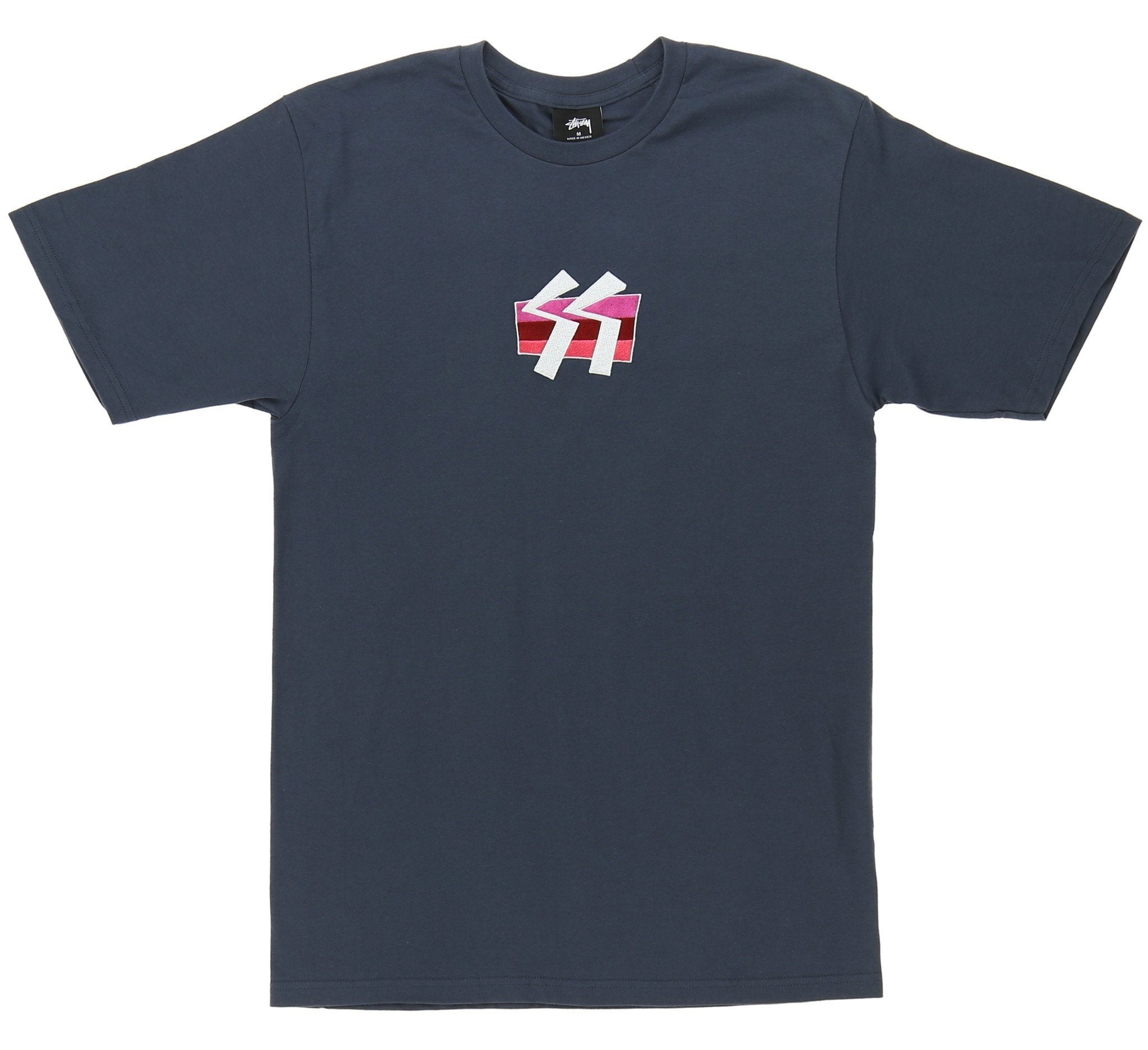 SS BOX STRIPE EMBROIDERED TEE