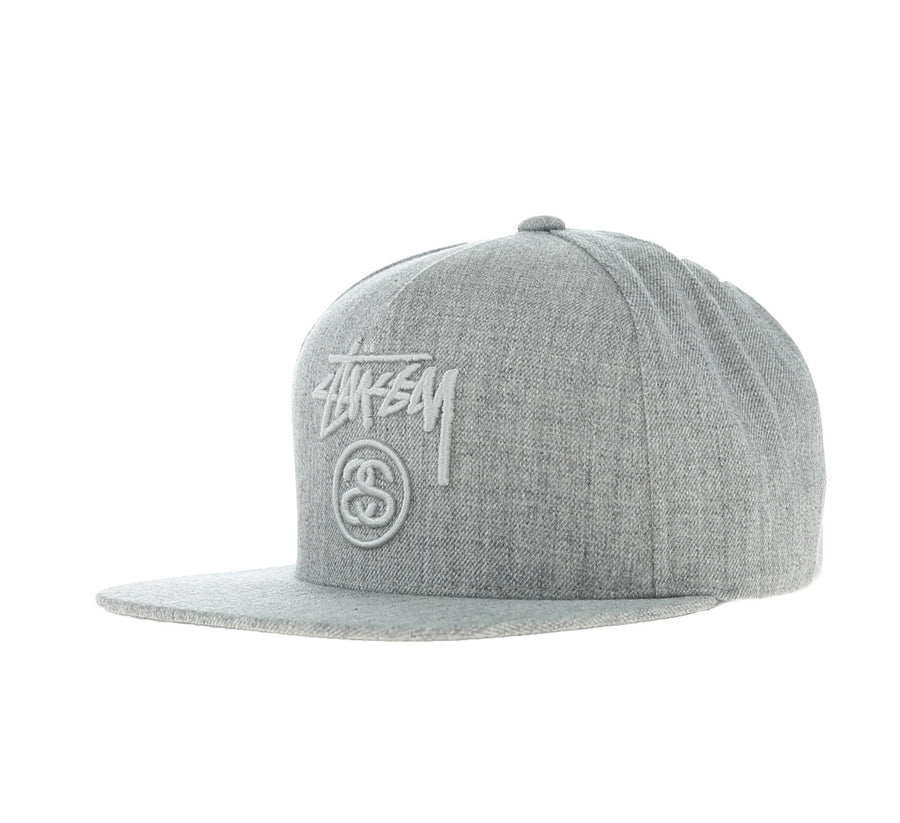 STOCK LOCK CAP, GREY HEATHER