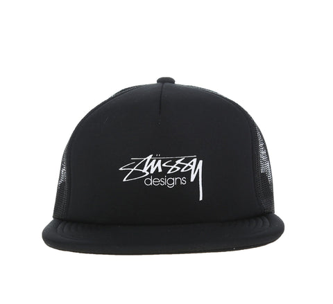 SMOOTH STOCK TRUCKER CAP, BLACK