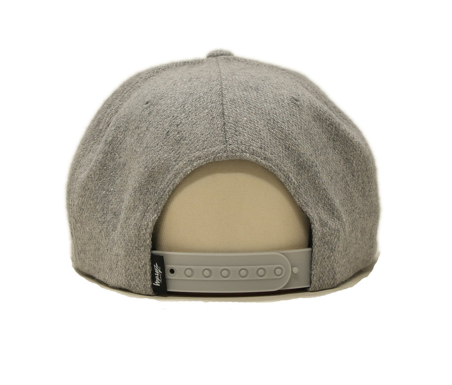 STOCK MELTON CAP, GREY HEATHER, O/S