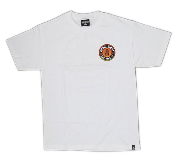 SUN BURNT TEE, WHITE