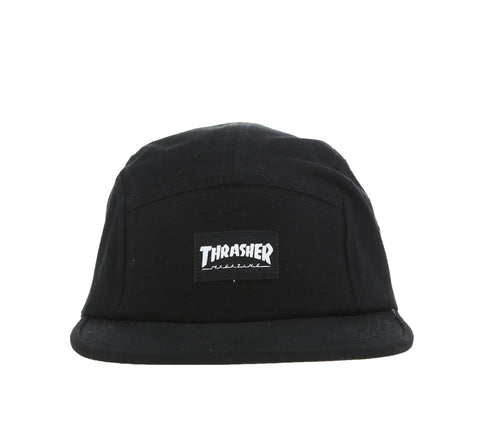 THRASHER 5-PANEL CAP, BLACK