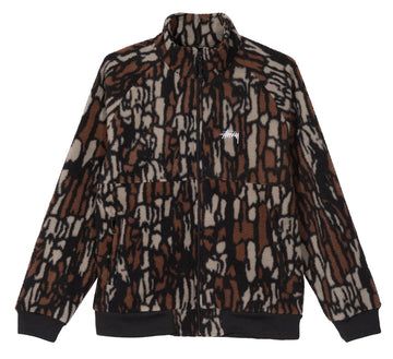 TREE BARK FLEECE JACKET