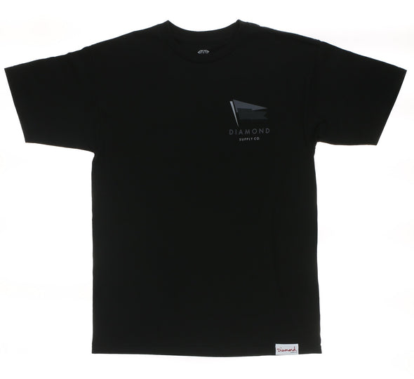 YACHT FLAG TEE, BLACK