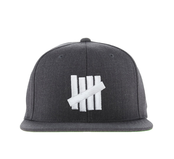 5 STRIKE CAP, CHARCOAL HEATHER