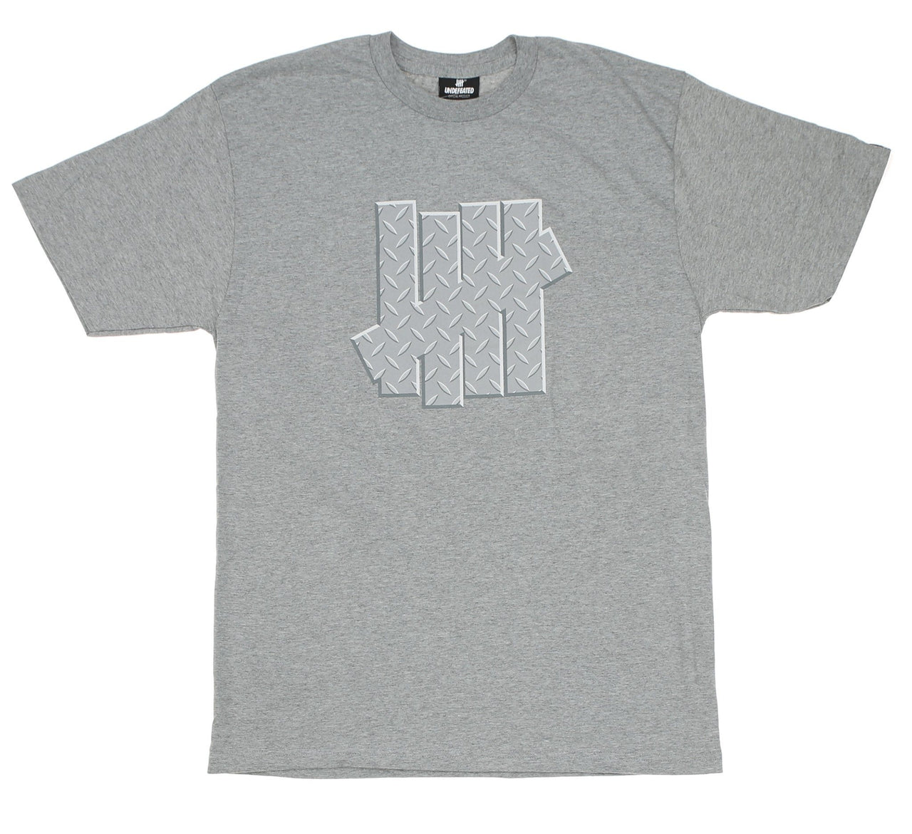 DIAMOND PLATE STRIKE TEE, GREY HEATHER