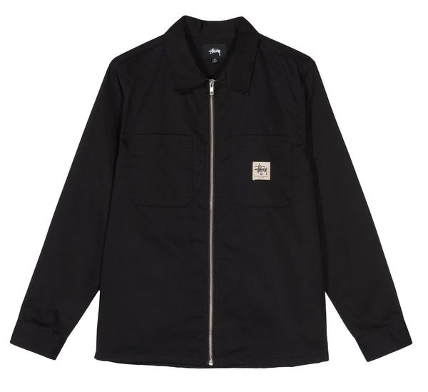 ZIP UP WORK L/S SHIRT