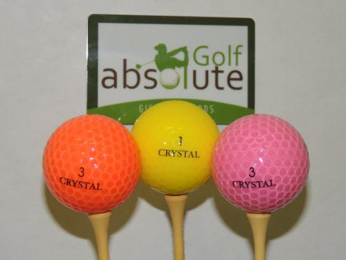 48 Crystal Mixed Colors Recycled Golf Balls With mesh Bag