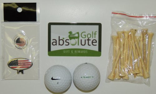 36 Nike PD Soft Grade A/B & Free Golf Tee's & Magnetic American Flag Golf Ball Marker/Hat Clip ($6.99 Retail Value)