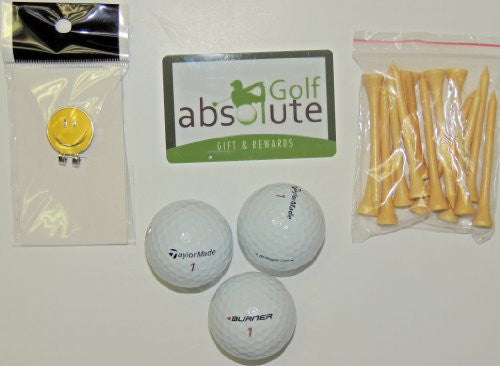 48 Taylormade Mix Grade C With Free Tee's and Magnetic Smiley Face Golf Ball Marker/Hat Clip