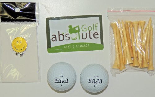 36 Nike MOJO Recycled Golf Balls Grade B & Free Golf Tee's & Magnetic Smiley Face Golf Ball Marker/Hat Clip ($6.99 Retail Value)