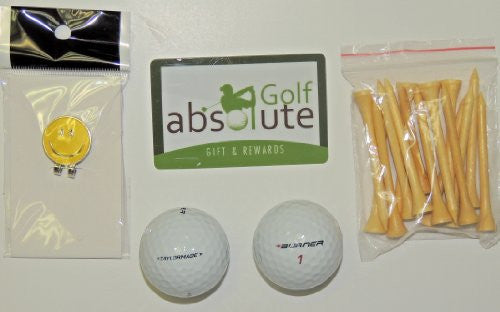 48 Taylormade Burner Mix Grade B Recycled Golf Balls With Free Tee's & Magnetic Smiley Face Golf Ball Marker/Hat Clip