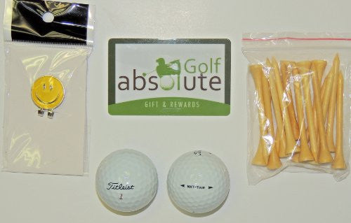 48 Titleist NXT Tour Recycled Golf Balls Grade C With Free Tee's & Magnetic Smiley face Golf Ball Marker/Hat Clip