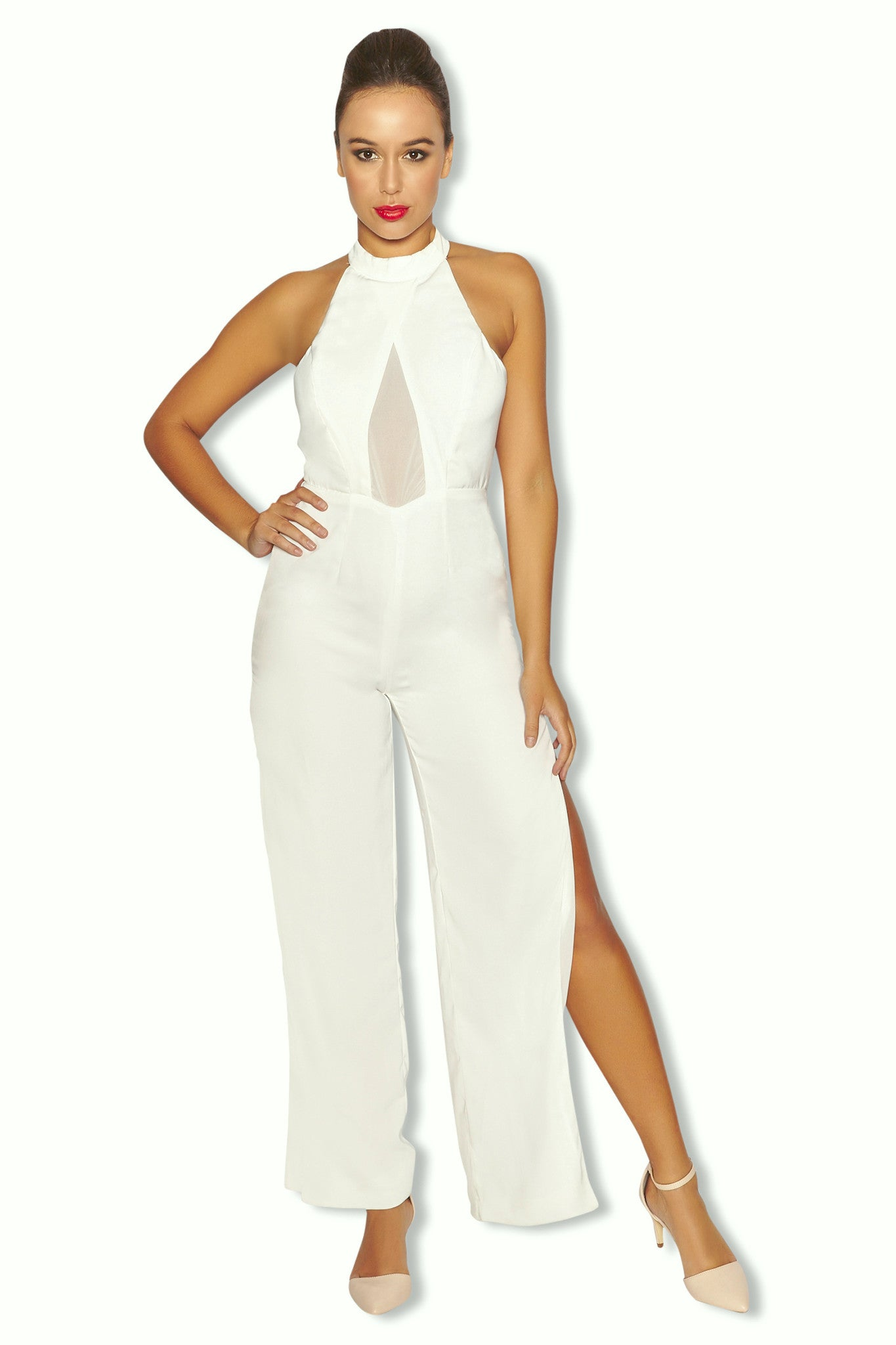 44ba2497f2d Aba Jumpsuit - Off-white - GLAMINI