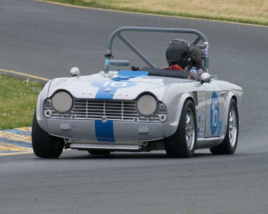 Ken Knight with 1964 Triumph TR4 in Group 10 at the 2016 CSRG David Love Memorial - Sears Point Raceway