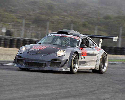 Daniel Davis with 2006 Porsche 911 GT3 Cup in Group 1 - PCA Sholar-Friedman Cup at the 2015 Rennsport Reunion V, Mazda Raceway Laguna Seca
