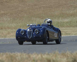 Tim Barnes driving his 1951 Jaguar KX120 at the 2015 CSRG Thunderhill Rolling Thunder at Thunderhill Raceway