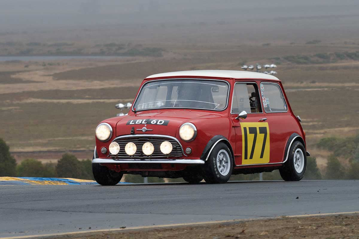Dennis Racine - 1966 Mini Cooper S in Group 2 -  at the 2016 Charity Challenge - Sonoma Raceway