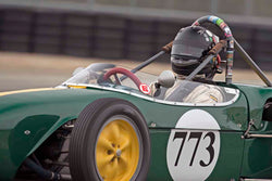 David Allison - Lotus 18 FJ in Group 2B - 1958-1960 Formula Jr. - front engine or drum brakes at the 2017 Rolex Monterey Motorsport Reunion run at Mazda Raceway Laguna Seca