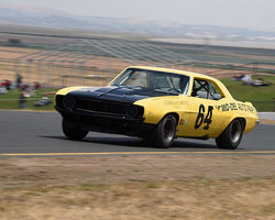 Chad Raynal with 1967 Chevy Camaro Z28 in Group 10 - 1966-1972 Historic Trans-Am Cars at the 2015 Sonoma Historic Motorsports Festival at Sonoma Raceway