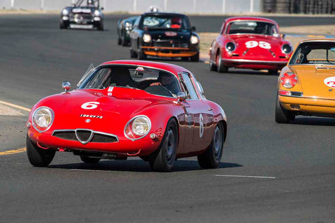 Ned Spieker - 1965 Alfa Romeo TZ1 in Group 2 - Small Displacement Production Sports Cars through 1967 at the 2017 CSRG Charity Challenge run at Sonoma Raceway