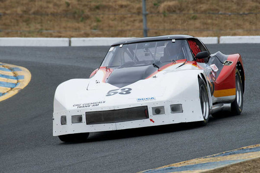 Mike Thurlow with 1976 Chevrolet Corvette in Group 12 at the 2016 SVRA Sonoma Historics - Sears Point Raceway